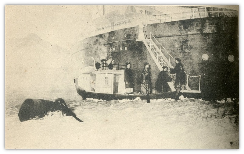 Lee Ching-fang boarding Yokohama Warship to Transfer the Sovereignty over Taiwan in 1895